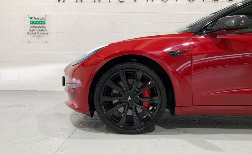 Tesla Model 3 Dual Motor Performance, Chrome-Delete, (Performance Upgrade)